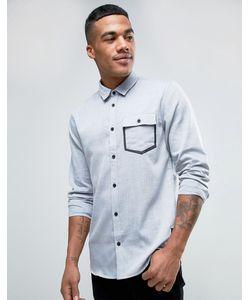 Solid | Оксфордская Рубашка Классического Кроя С Карманом