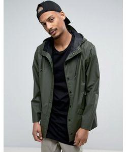 Rains | Зеленая Водооталкивающая Куртка С Капюшоном