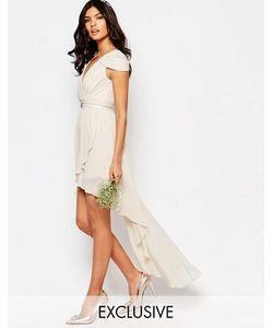 TFNC | Асимметричное Платье С Открытыми Плечами Wedding