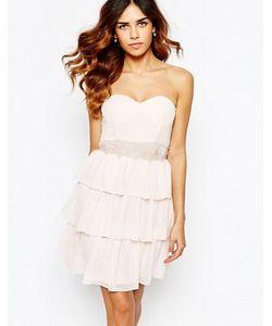 Elise Ryan | Платье-Бандо С Кружевной Отделкой