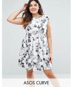 Closet Plus | Короткое Приталенное Платье С Розами