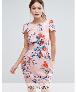 Closet London   Платье С Короткими Рукавами И Цветочным Принтом