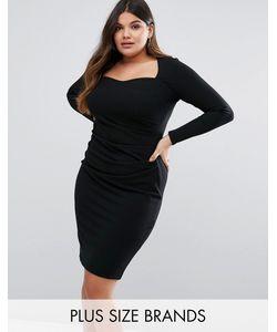Goddiva plus | Платье С Квадратным Вырезом