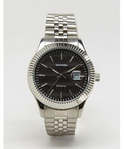 Sekonda | Серебристые Наручные Часы С Черным Циферблатом Эксклюзивно Для