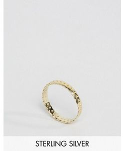 Asos | Позолоченное Серебряное Кольцо С Отделкой В Виде Листьев