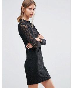 Love & Lies | Черное Кружевное Платье Adder