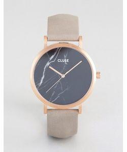 Cluse | Часы С Черным Мраморным Циферблатом И Золотисто-Розовым Ремешком La Roche