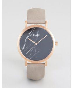 Cluse   Часы С Черным Мраморным Циферблатом И Золотисто-Розовым Ремешком La Roche