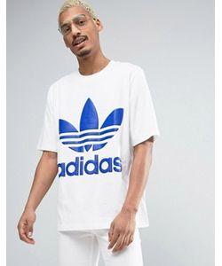 adidas Originals | Свободная Белая Футболка Ac Bk7174