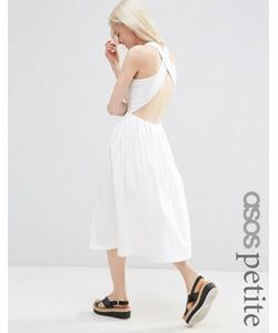 ASOS PETITE | Приталенное Платье Миди С Перекрестной Спинкой