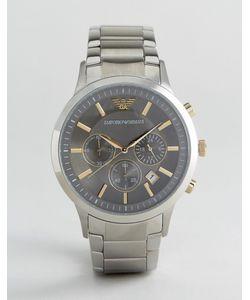 Emporio Armani | Серебристые Часы 43 Мм С Хронографом Ar11047