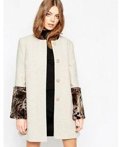 Helene Berman | Пальто С Манжетами Из Искусственного Меха Oyster