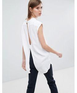 Weekday   Рубашка Без Воротника С Вырезом На Спине