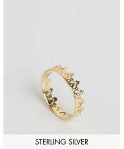 Asos | Кольцо В Виде Короны Из Позолоченного Серебра