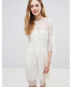Ganni   Кружевное Платье Мини Parker