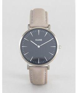 Cluse | Часы С Серым Кожаным Ремешком La Boheme