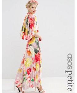 ASOS PETITE | Платье Макси Со Складками И Драпировкой Сзади Wedding