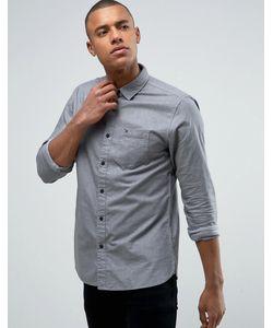 Tommy Hilfiger | Мягкая Однотонная Оксфордская Рубашка Denim