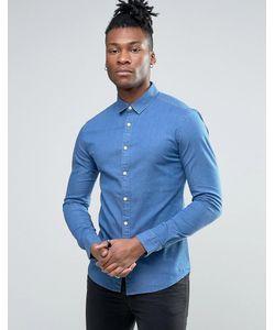 Asos | Супероблегающая Джинсовая Рубашка