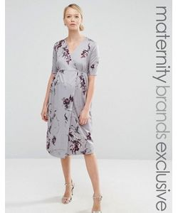 Hope and Ivy Maternity | Платье Миди Для Беременных С Запахом И Бантом Спереди Hope