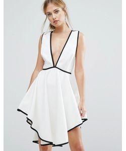 Finders Keepers | Платье С Глубоким Вырезом И Асимметричным Подолом Finders Asher