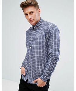 Solid | Рубашка Из Хлопковой Саржи В Клетку