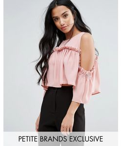 Fashion Union Petite | Cold Shoulder Smock Top