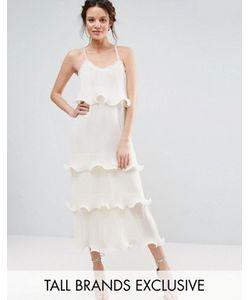 True Decadence Tall | Ярусное Платье На Бретельках С Оборками