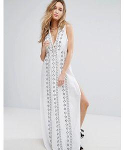 Liquorish   Пляжное Платье Макси С Вышивкой