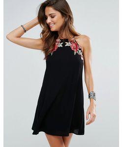 Surf Gypsy | Пляжное Платье С Цветочной Аппликацией
