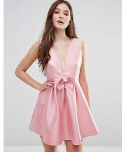 Pixie & Diamond | Платье С Бантом Спереди