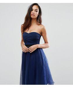 Rare | Платье Миди Без Бретелек С Юбкой Из Тюли London