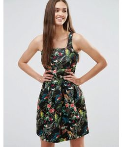 Darling | Короткое Приталенное Платье С Цветочным Принтом