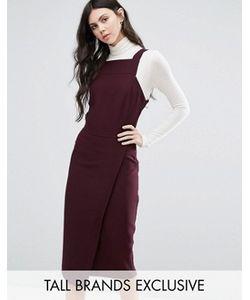 Alter Tall | Платье С Запахом И Квадратной Горловиной