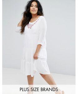 Diya | Платье С Длинными Рукавами И Многослойной Юбкой