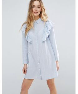 Influence | Платье-Рубашка С Оборками На Плечах