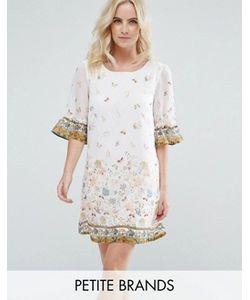 Yumi Petite | Свободное Платье С Цветочным Принтом И Оборками На Рукавах