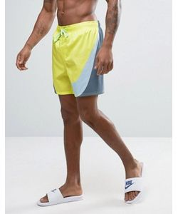 Nike | Желтые Шорты Для Плавания С Большим Логотипом Breach