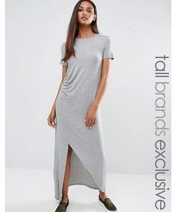 One Day Tall | Платье Миди Со Сборкой Спереди