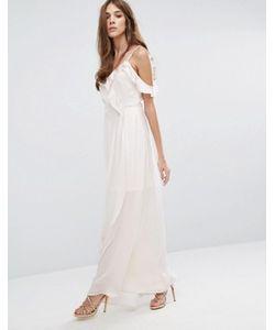Vero Moda   Платье Макси С Открытыми Плечами И Оборками