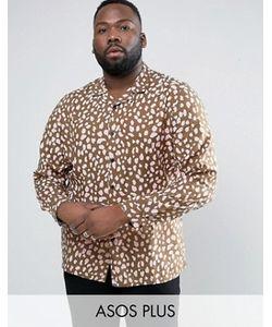 Asos | Рубашка Классического Кроя С Отложным Воротником И Принтом Plus