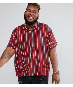 Asos | Рубашка Из Вискозы В Полоску С Отложным Воротником Plus