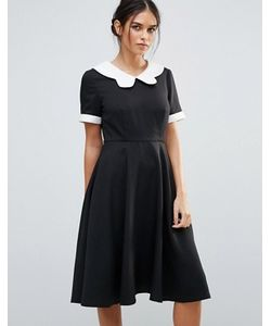 Amy Lynn | Короткое Приталенное Платье С Контрастным Воротником