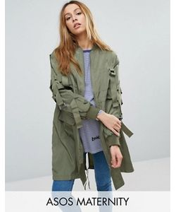 ASOS Maternity | Longline Parka With Parachute Strapping