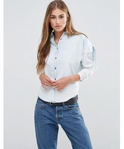 Maison Scotch   Стильная Рубашка Цвета Индиго