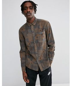 Asos | Вельветовая Рубашка Классического Кроя С Винтажным Принтом