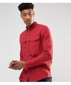 Asos | Рубашка Навыпуск Из Ткани С Добавлением Льна С Нагрудными Карманами