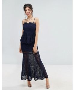 Love Triangle | Кружевное Платье Макси С Баской