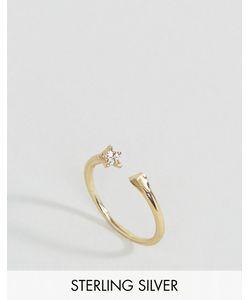 Asos | Незамкнутое Серебряное Кольцо С Покрытием Из Розового Золота