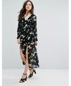 Influence   Платье Миди С Цветочным Принтом